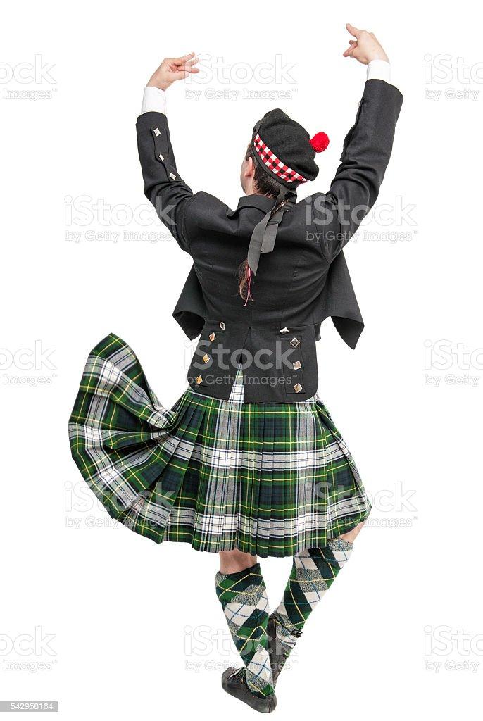 Fotografía de Scottish Man In Traditional National Costume Back ... 2e8b8a25638