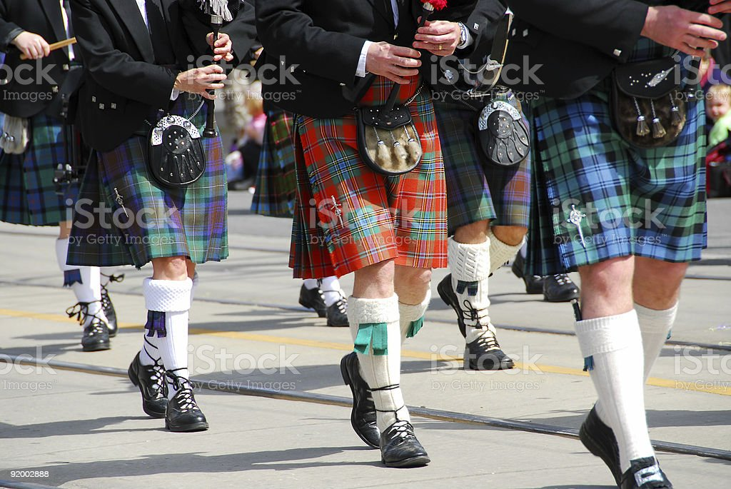Scottish marching band stock photo