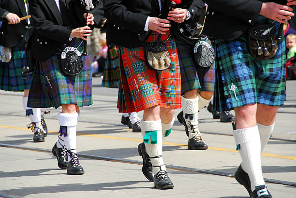 Scottish marching band  folk music stock pictures, royalty-free photos & images