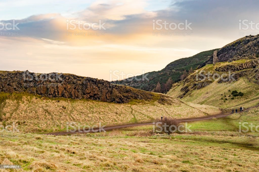 Scottish Mountains Landscape Background Wallpaper Stock