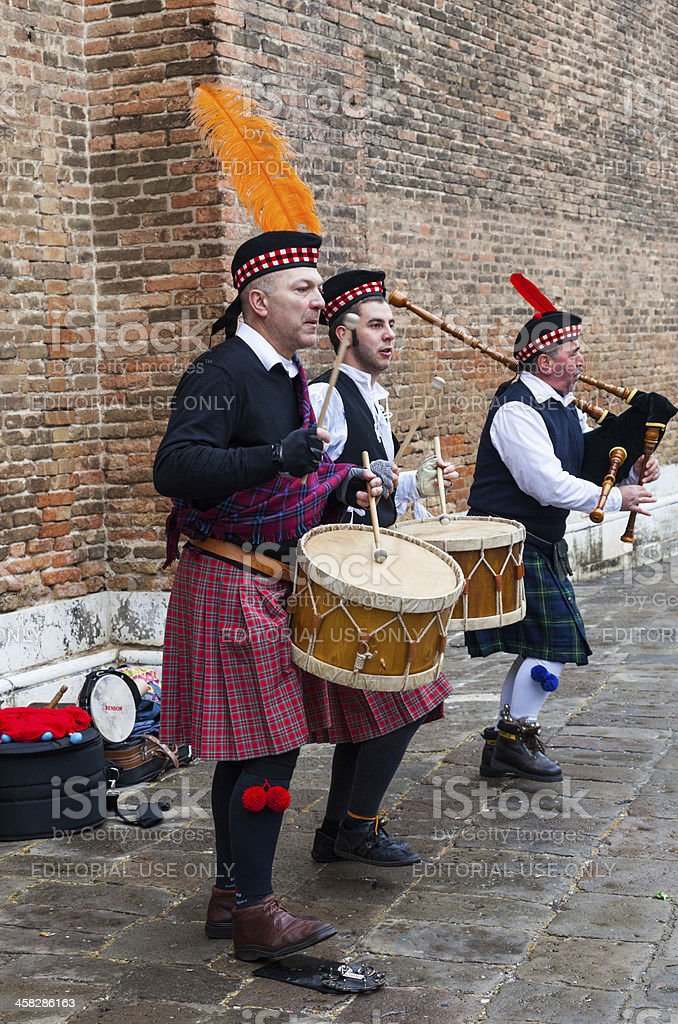 Scottish Musical Band royalty-free stock photo