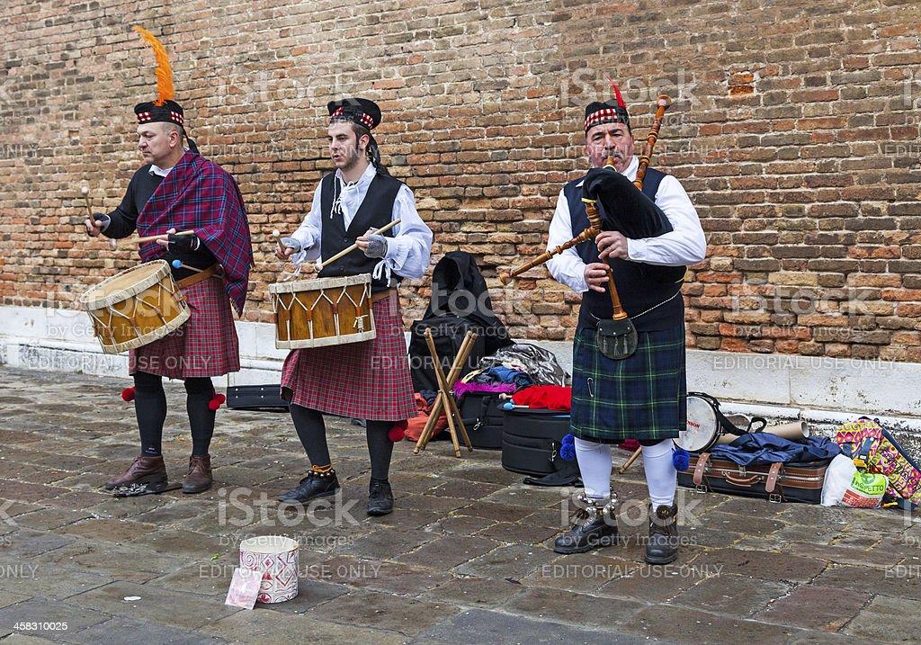 Scottish Musical Band royalty-free stock photo