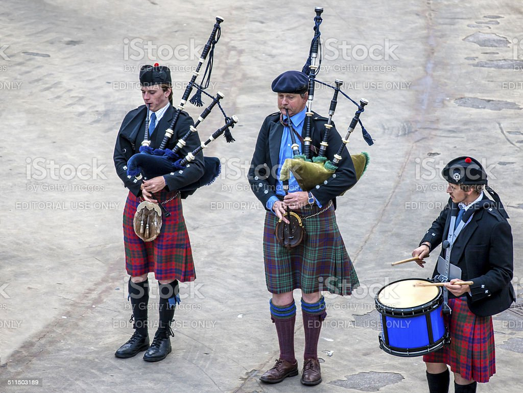 Scottish musicien bagpiper6 stock photo