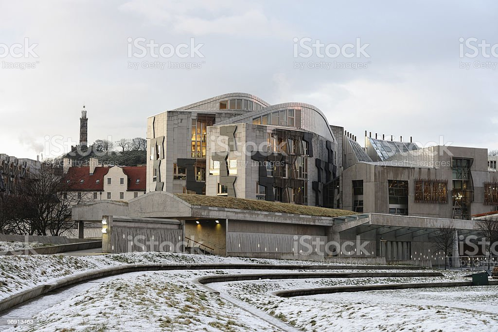 Scottish Parliament Building, Holyrood, Edinburgh, Scotland, UK royalty-free stock photo