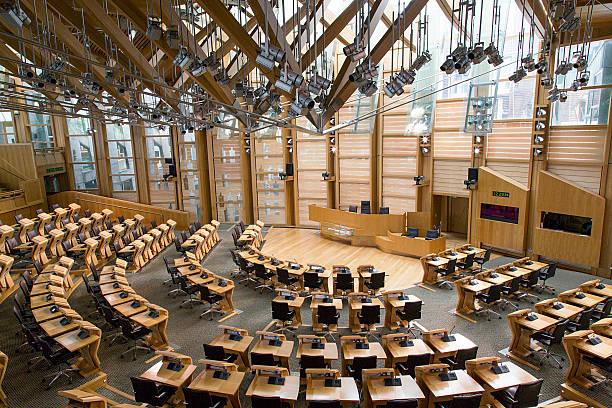 scottish parliament - edinburgh - britische politik stock-fotos und bilder