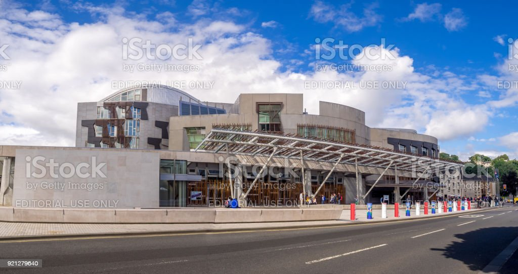 Scottish Parliament, Edinburgh - foto stock