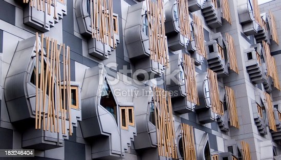 istock Scottish Parliament Windows 183246404