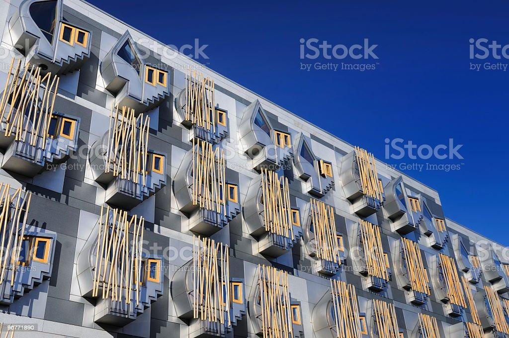 Scottish Parliamentary Building stock photo