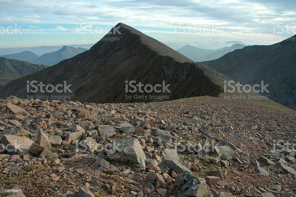 Scottish peak royalty-free stock photo