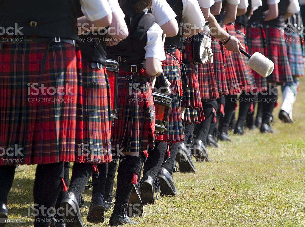 Scottish Pipe Band stock photo