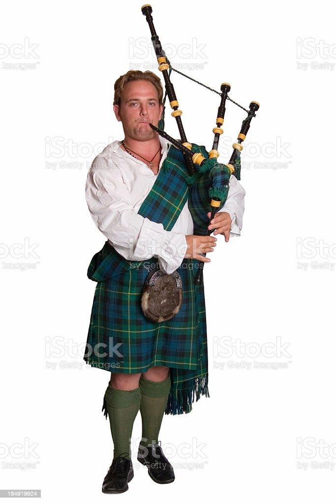 Scottish piper stock photo