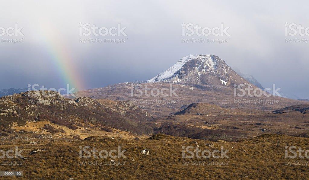 scottish rainbow royalty-free stock photo