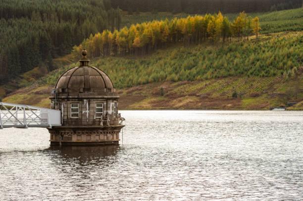 Scottish reservoir on an autumn day stock photo