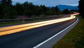 istock Scottish Road at Night 157187671