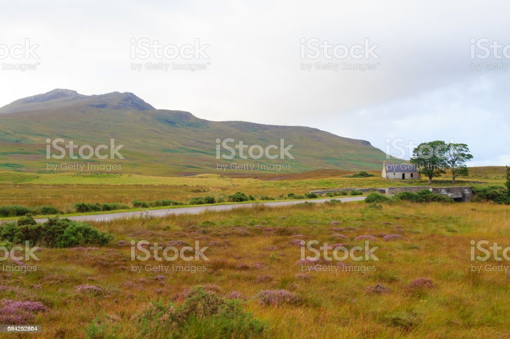 Scottish road trough countryside royalty-free stock photo