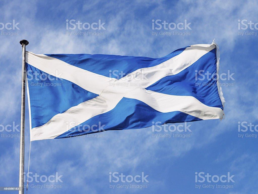 Scottish Saltire stock photo