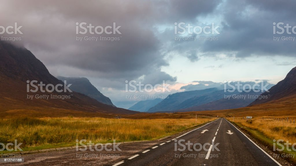 Scottish serenity in the highlands stock photo