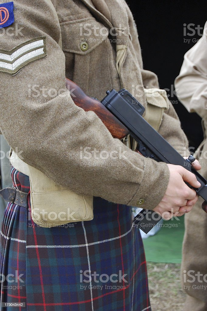 Scottish Soldier. royalty-free stock photo