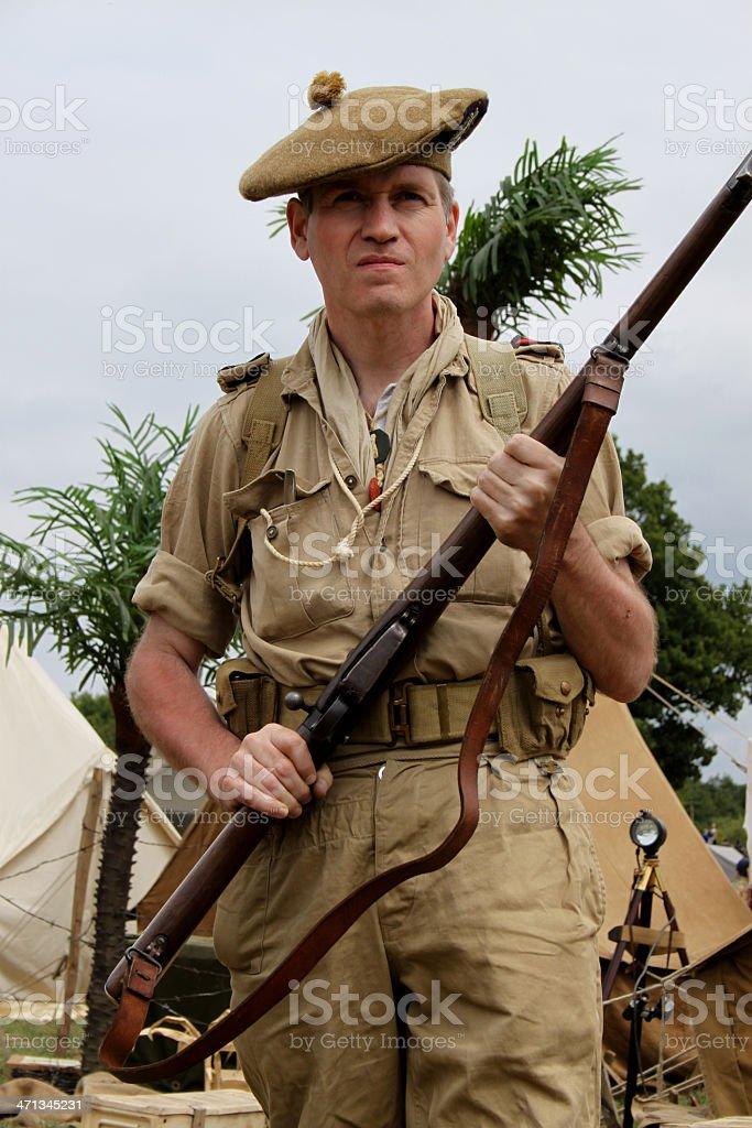 Scottish Soldier. stock photo