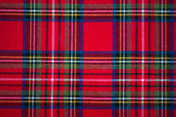 Scottish style fabric, tartan plaid texture Scottish style fabric, tartan plaid texture plaid stock pictures, royalty-free photos & images