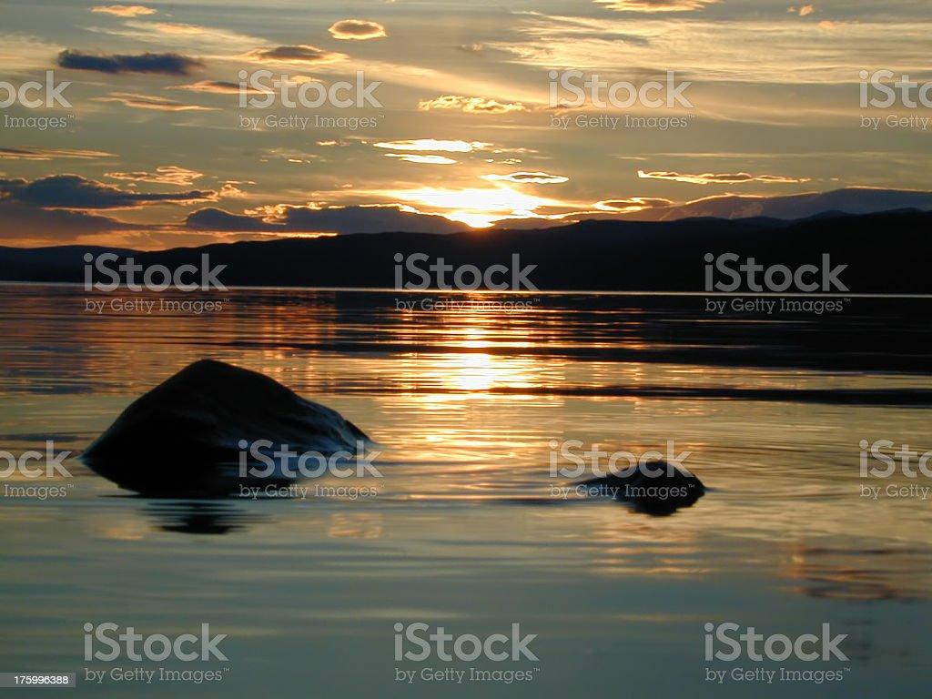 Scottish sunset royalty-free stock photo