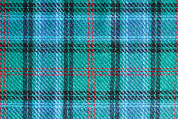 Scottish tartan called Lochcarron Hunting Ancient stock photo