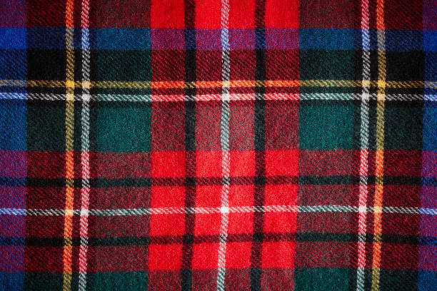 Scottish tartan called Stewart Royal Modern Close up of Scottish tartan called Stewart Royal Modern. plaid stock pictures, royalty-free photos & images