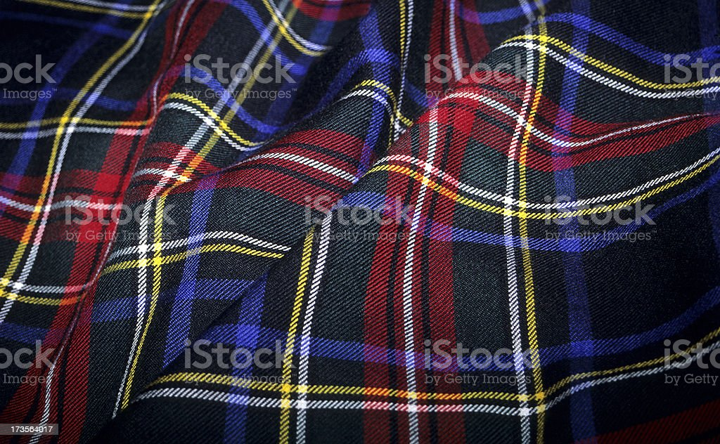 Scottish Tartan Fabric stock photo