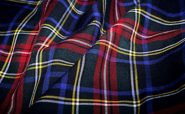 Scottish Tartan Fabric stock photo