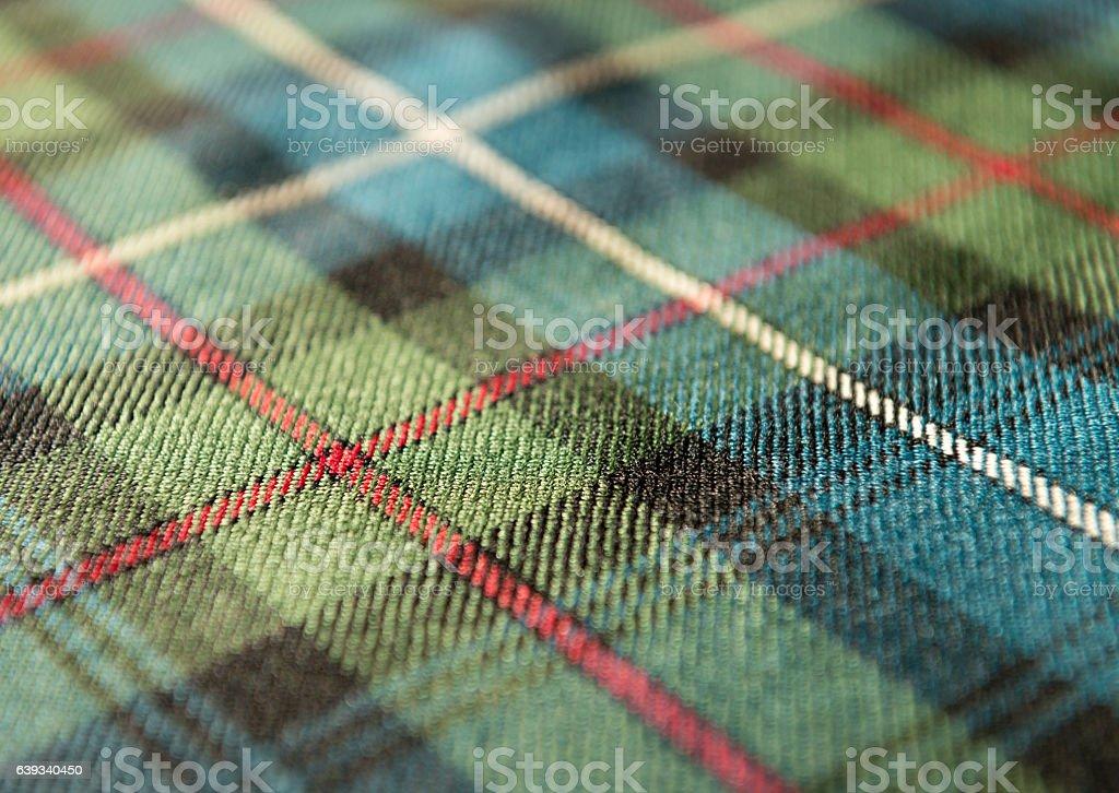 Scottish tartan pattern stock photo