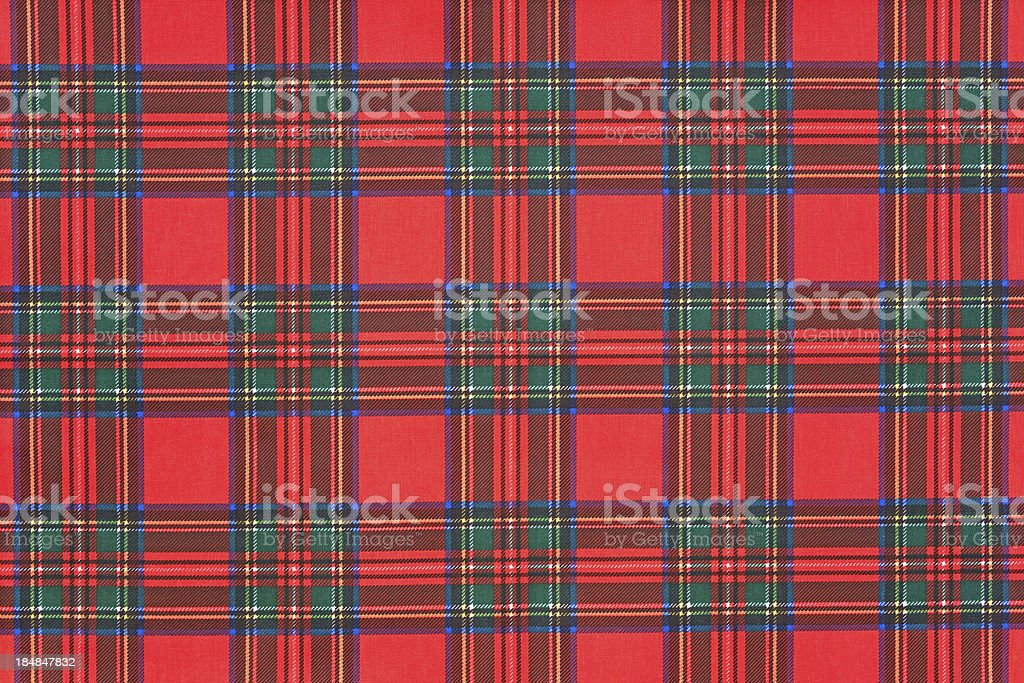 Scottish tartan stock photo
