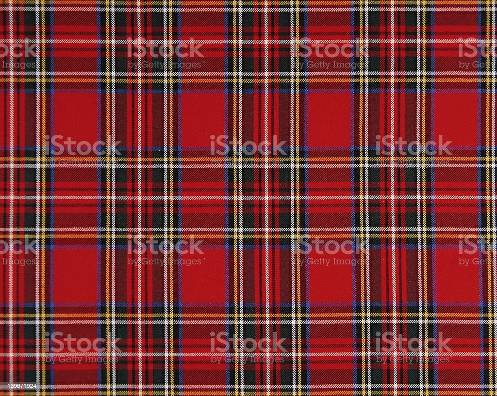 Scottish tissue stock photo