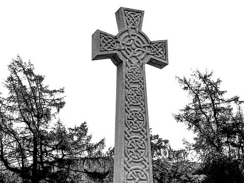 Scottish War Memorial Celtic Cross Braemar