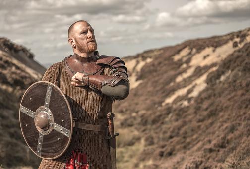 Scottish warrior wearing a kilt