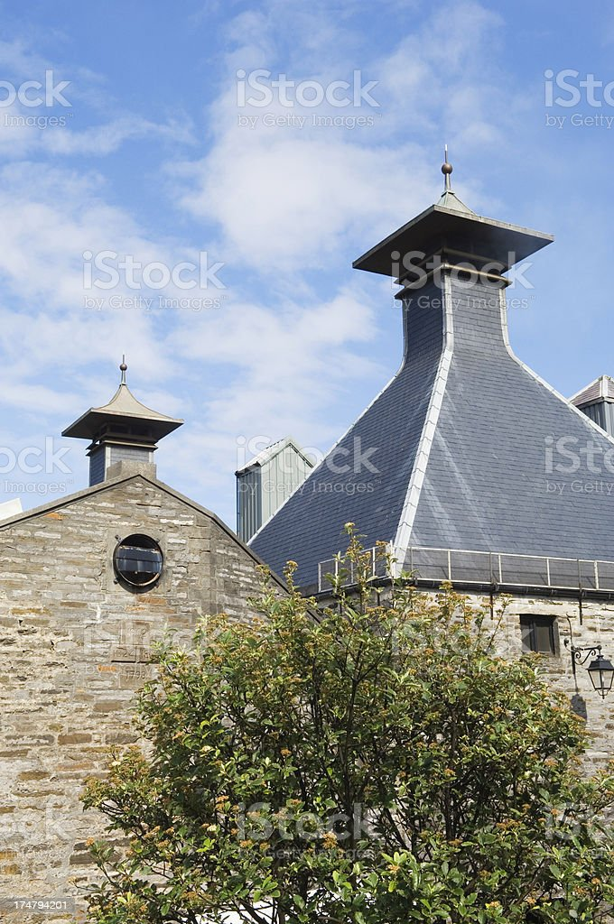 Scottish whisky distillery royalty-free stock photo