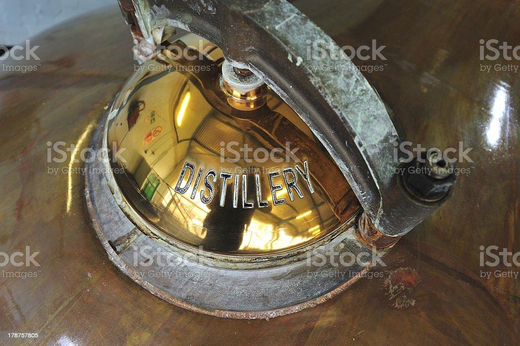 Destilería de Whisky escocés - foto de stock