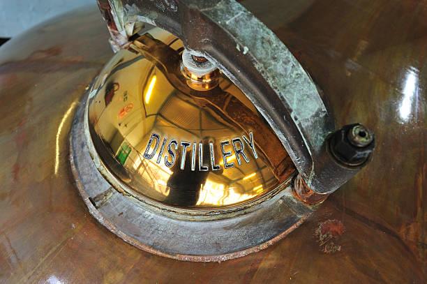 Scottish Whisky Distillery stock photo
