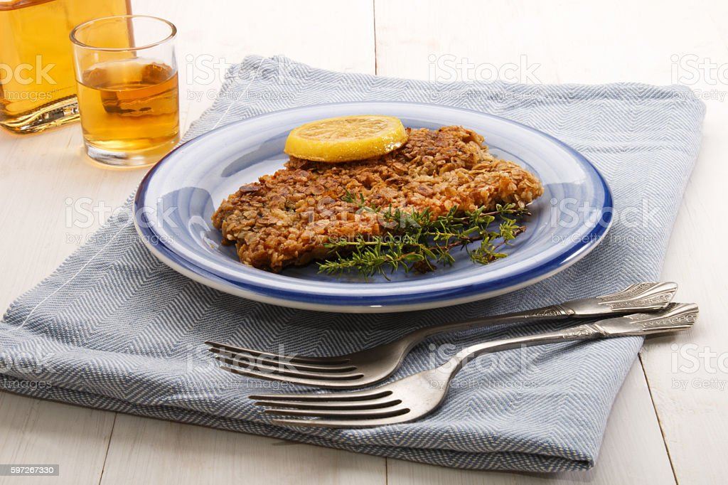 scottish with oatmeal coated kipper photo libre de droits