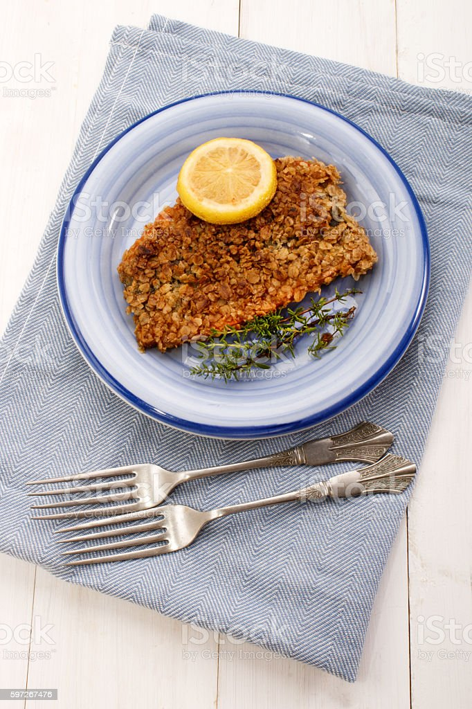 scottish with oatmeal coated kipper Lizenzfreies stock-foto