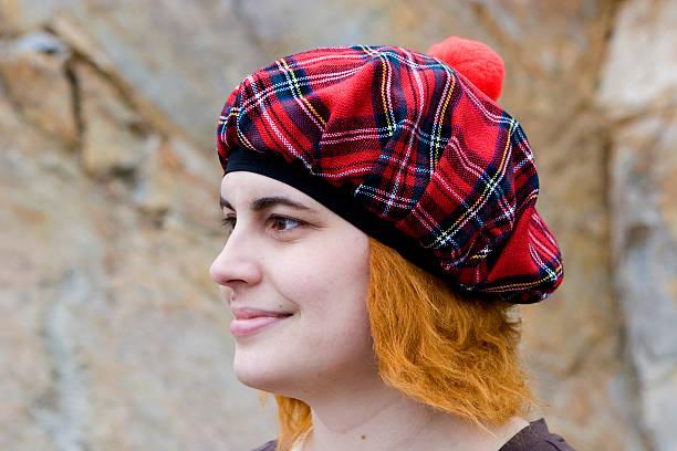 Scottish Woman stock photo