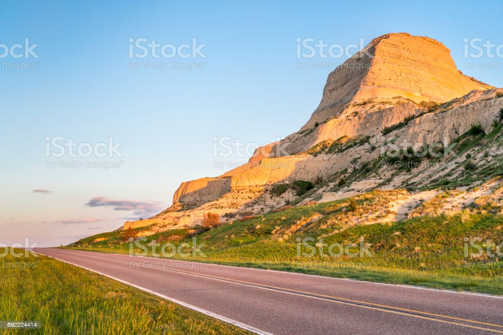 Scotts Bluff National Monument in Nebraska stock photo