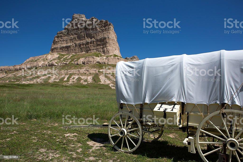 Scotts Bluff National Monument Nebraska stock photo