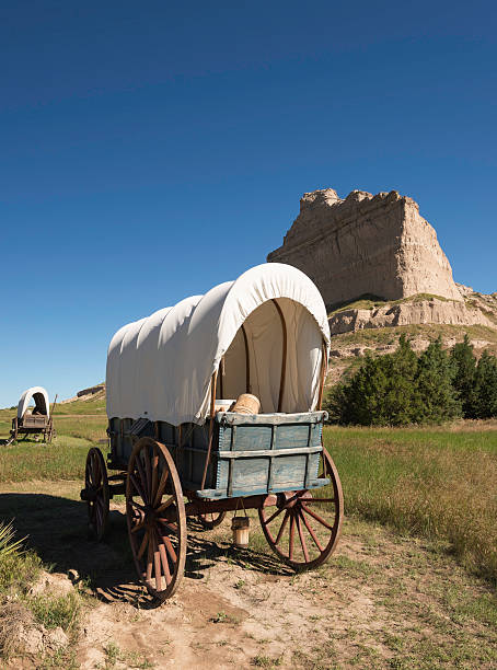 scotts bluff national monument - great plains stock photos and pictures