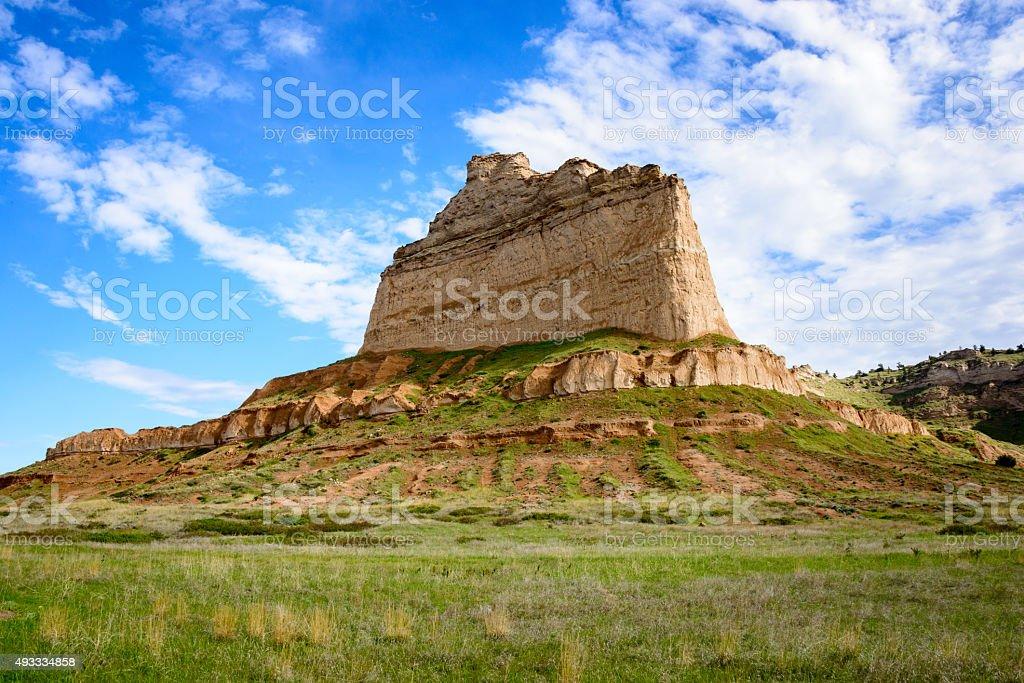 Scotts Bluff National Monument stock photo