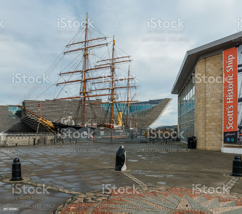 Scott's Boat Discovery and the Dundee Museum stock photo