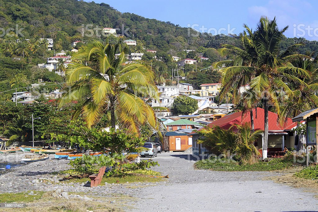 Scotts Head fishing village in Dominica, Caribbean Islands stock photo