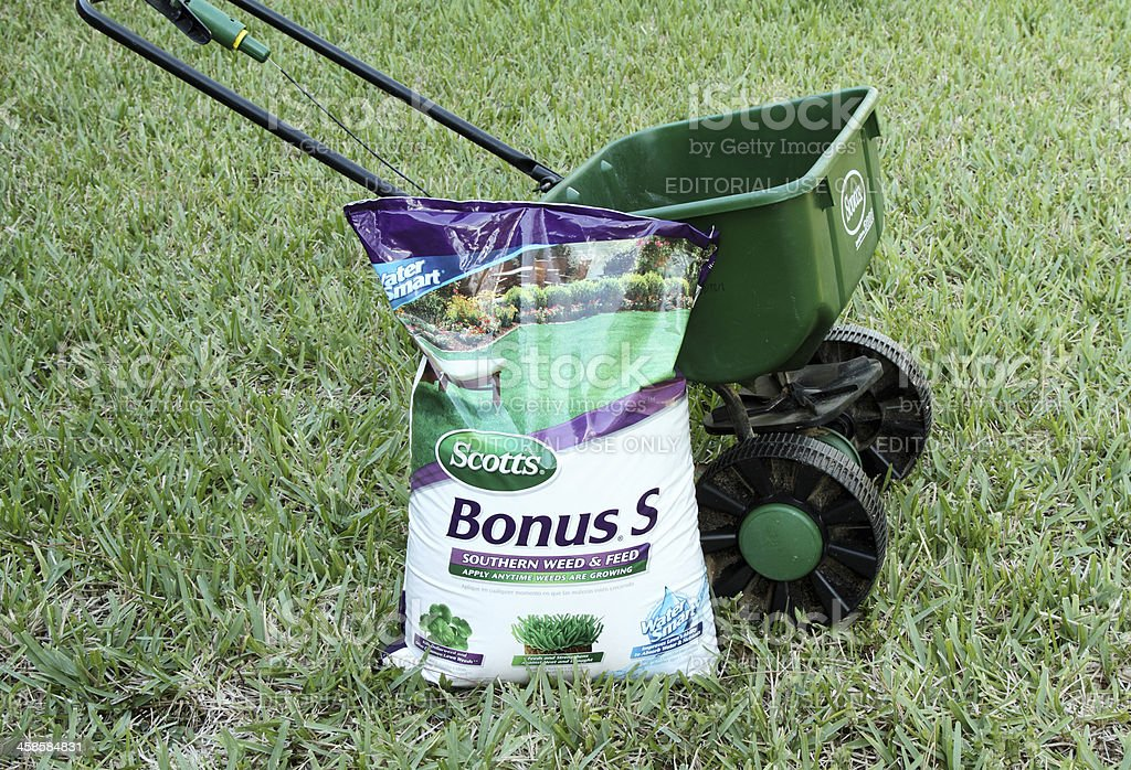 Scotts lawn products stock photo
