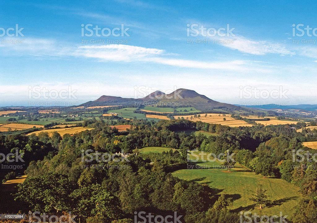 Scott's View of Eildon Hills, Scottish Borders stock photo