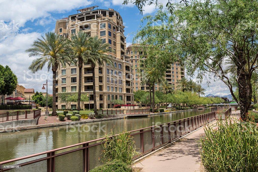 Scottsdale Arizona Waterfront District stock photo