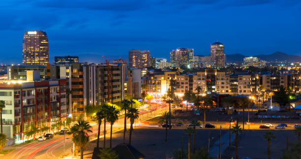 Scottsdale at Dawn stock photo